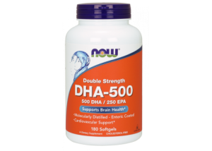 NOW Foods DHA Omega-3 500 mg (180 kaps.)