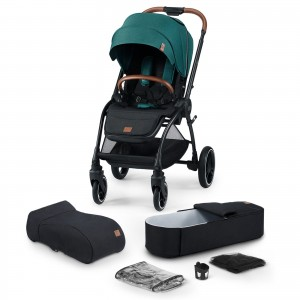 Kinderkraft wózek spacerowy 2w1 EVOLUTION COCOON midnight green