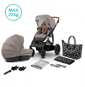 Kinderkraft Wózek głęboko spacerowy PRIME 2w1 beige + mommy bag