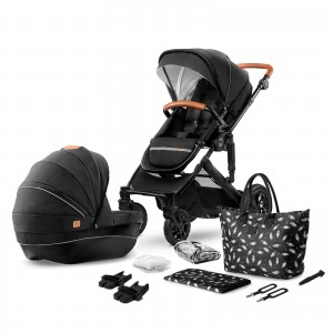 Kinderkraft Wózek głeboko spacerowy PRIME 2w1 black + mommy bag