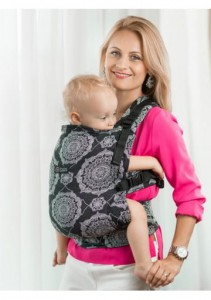 Nosidło Chustowe Isara - Kaleidoscopix Black Denim - Toddler