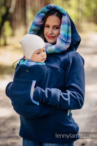 51f73ed3f15992 Polarowa Bluza Do Noszenia Dzieci – LennyLamb – Granatowa   Tulisie
